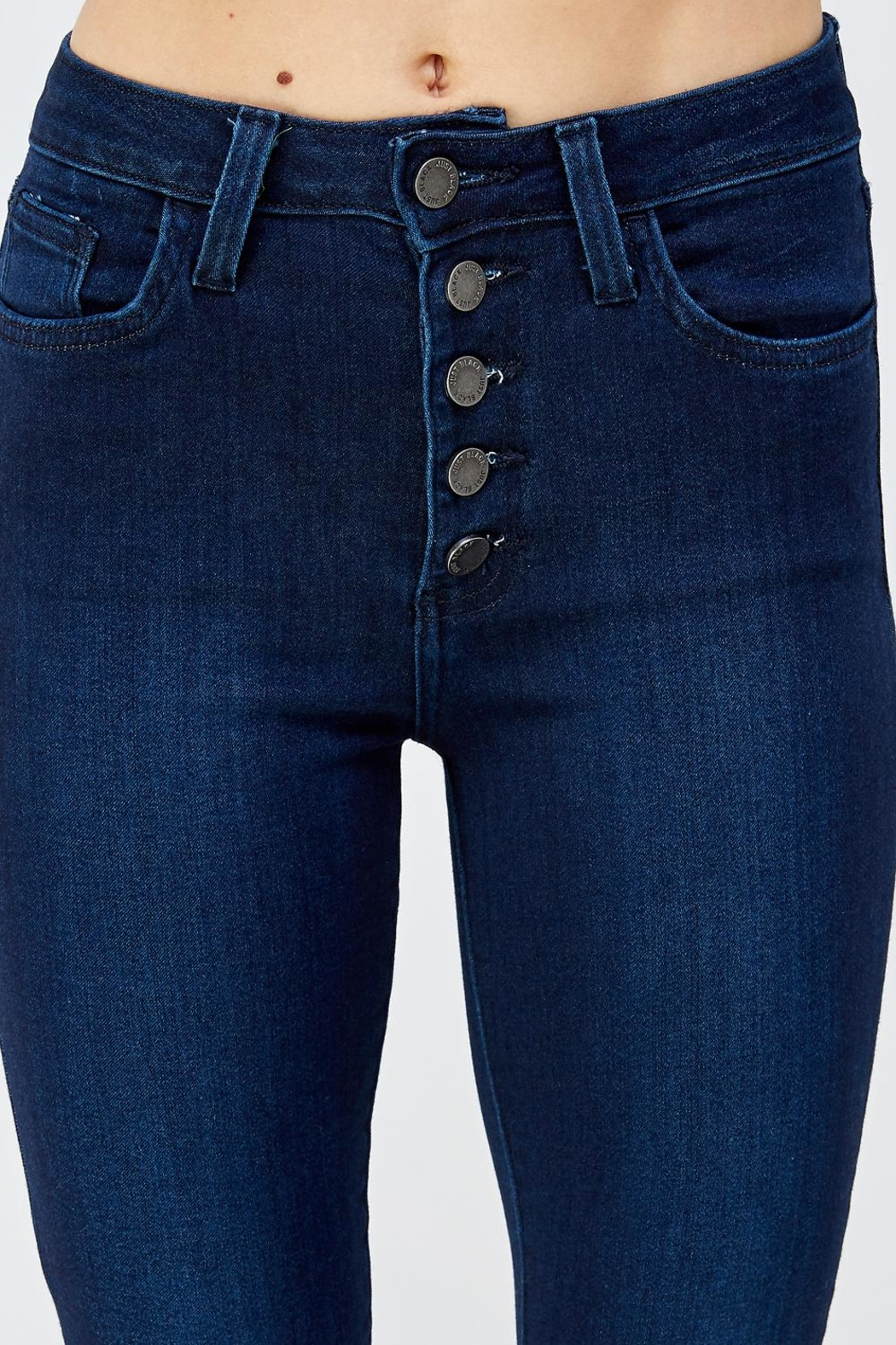 just black Button Fly Denim - Front Full Image