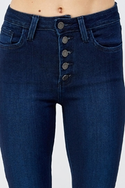 just black Button Fly Denim - Front full body
