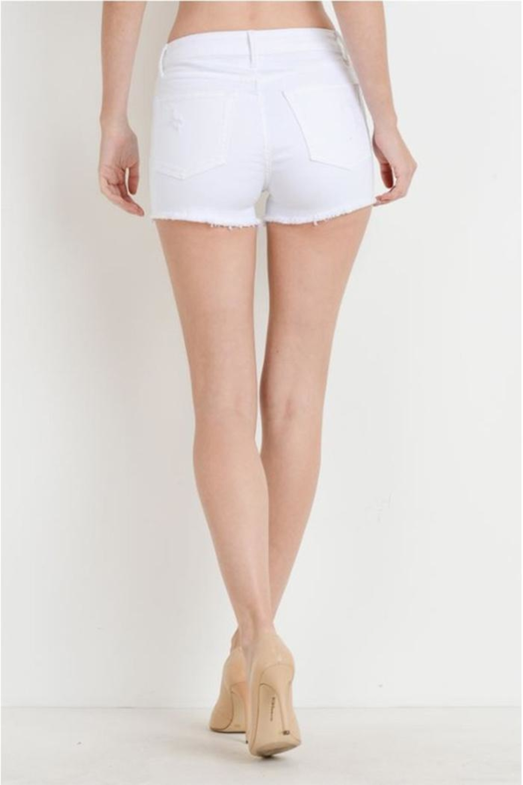 just black Button Fly Shorts - Side Cropped Image