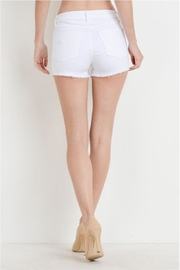 just black Button Fly Shorts - Side cropped