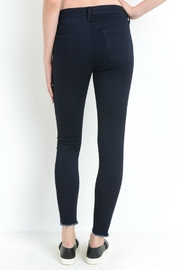 just black Button Fly Skinny - Back cropped