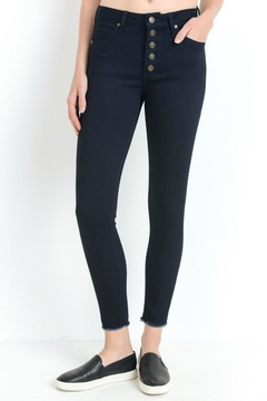 just black Button Fly Skinny - Product List Image