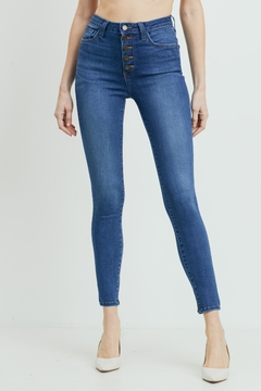 just black Button Front Jeans - Product List Image