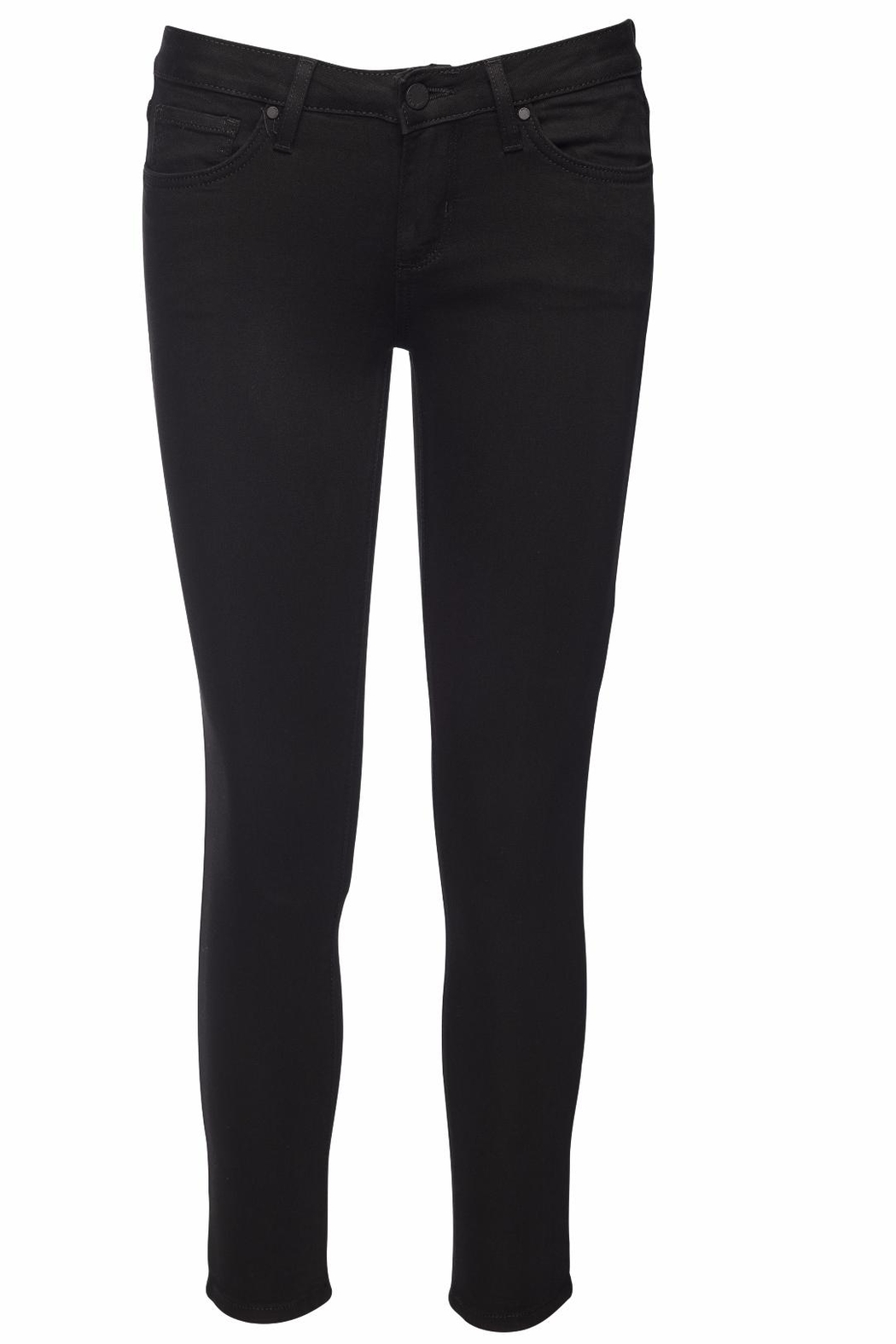just black Cropped Super Skinny Jeans - Main Image
