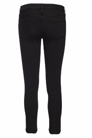 just black Cropped Super Skinny Jeans - Front full body