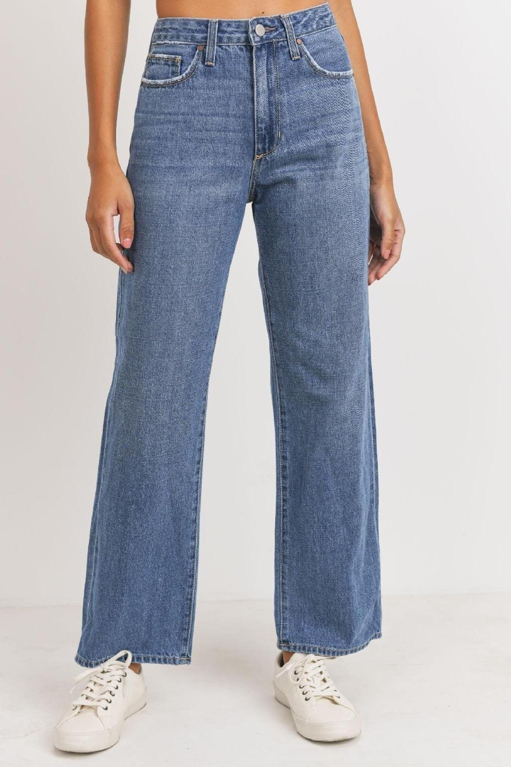 just black Dad Jean (Usa Made) Ultra High Waist 100% Rad. - Side Cropped Image