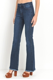 just black Dark Flare Jeans - Front full body