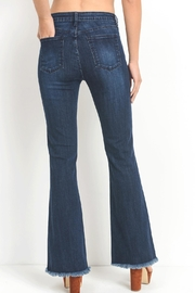 just black Dark Flare Jeans - Side cropped