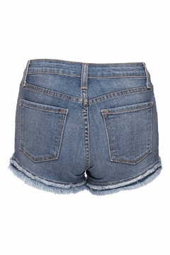 just black Denim Fray Short - Alternate List Image