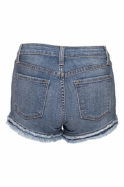 just black Denim Fray Short - Front full body