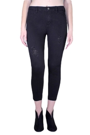 just black Destroyed Released Hem - Product Mini Image