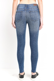 just black Distressed Denim Jeans - Front full body