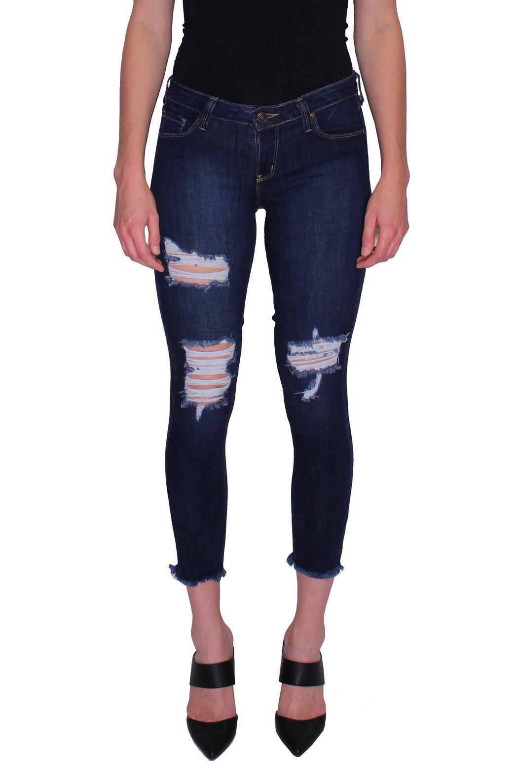 just black Distressed Skinny Jeans from Long Island by InMotion ...
