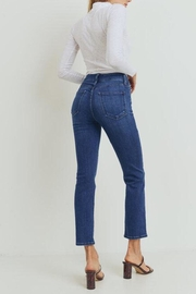 just black Double-Button Straight Jeans - Product Mini Image