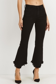 just black Flare Bottom Jeans - Product Mini Image