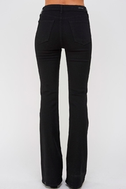 just black Flare Bottom Jeans - Side cropped