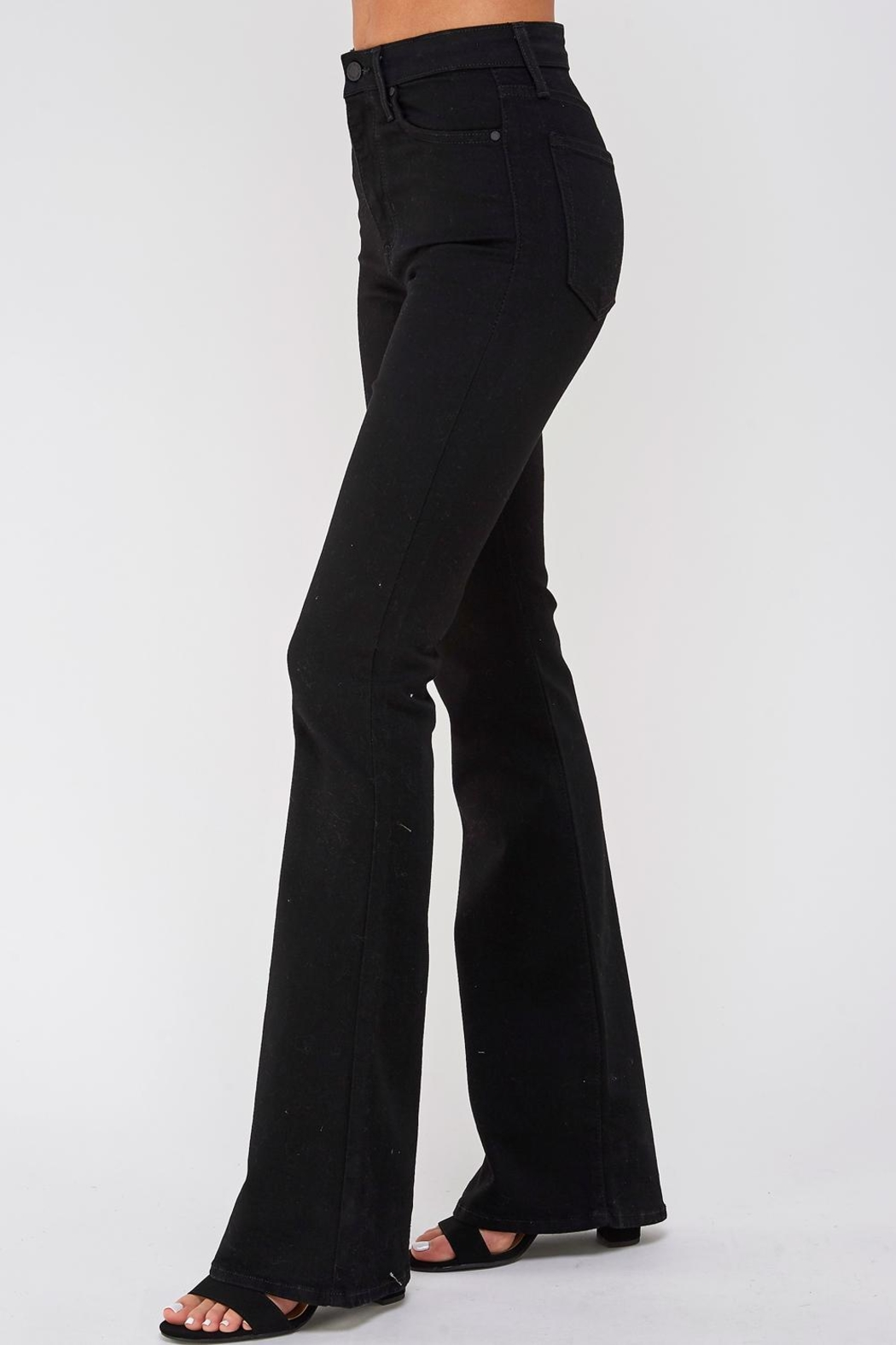 just black Flare Bottom Jeans - Main Image
