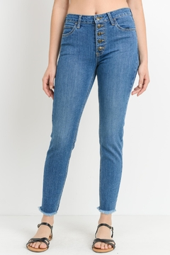 just black Fray Bottom Jeans - Product List Image