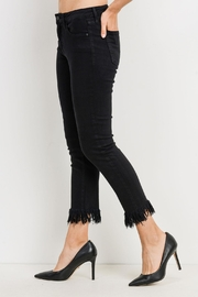 just black Frayed Black Jeans - Front full body
