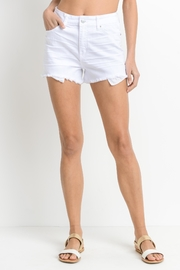 just black Frayed Denim Shorts - Product Mini Image