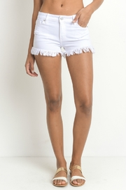 just black Frayed Hem Short - Front cropped