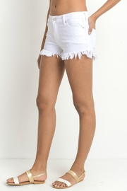 just black Frayed Hem Short - Side cropped