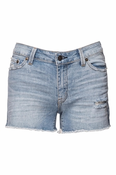just black Frayed Hem Shorts - Product List Image