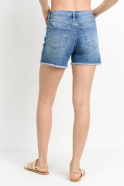 just black Frayed-Hem Shorts, Denim - Side cropped