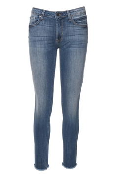 just black Frayed Skinny Denim Jeans - Product List Image