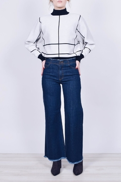 Shoptiques Product: Frayed Wide-Leg Jeans