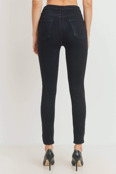 just black High-Rise Classic Skinny-Jeans - Alternate List Image