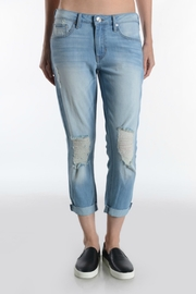 just black High Rise Crop Jean - Front cropped