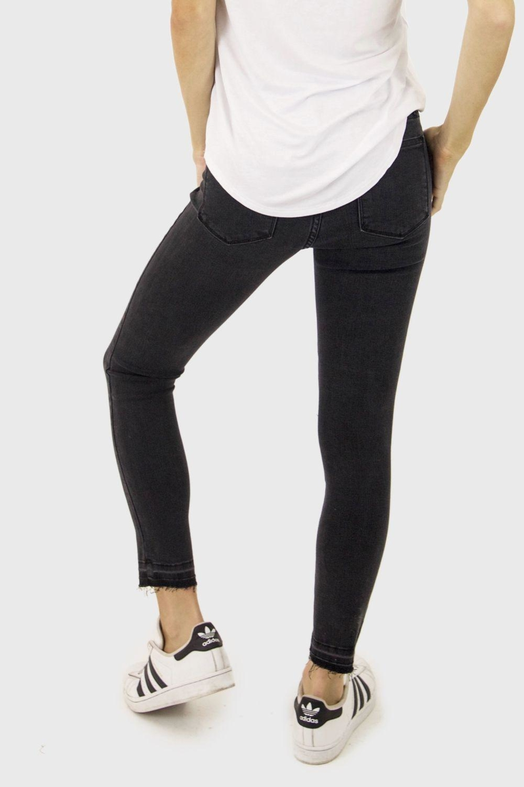 just black High Rise Denim Jeans - Front Full Image