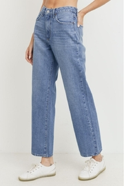 just black High - Rise Dad Jean - Front full body