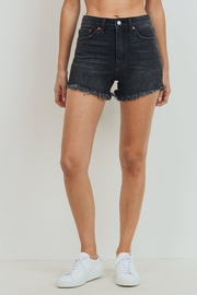 just black High-Rise Frayed-Hem Shorts - Product Mini Image