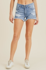 just black High-Rise Shorts, Denim - Front cropped