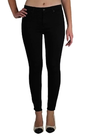 just black High-Rise Skinny Jeans - Front cropped