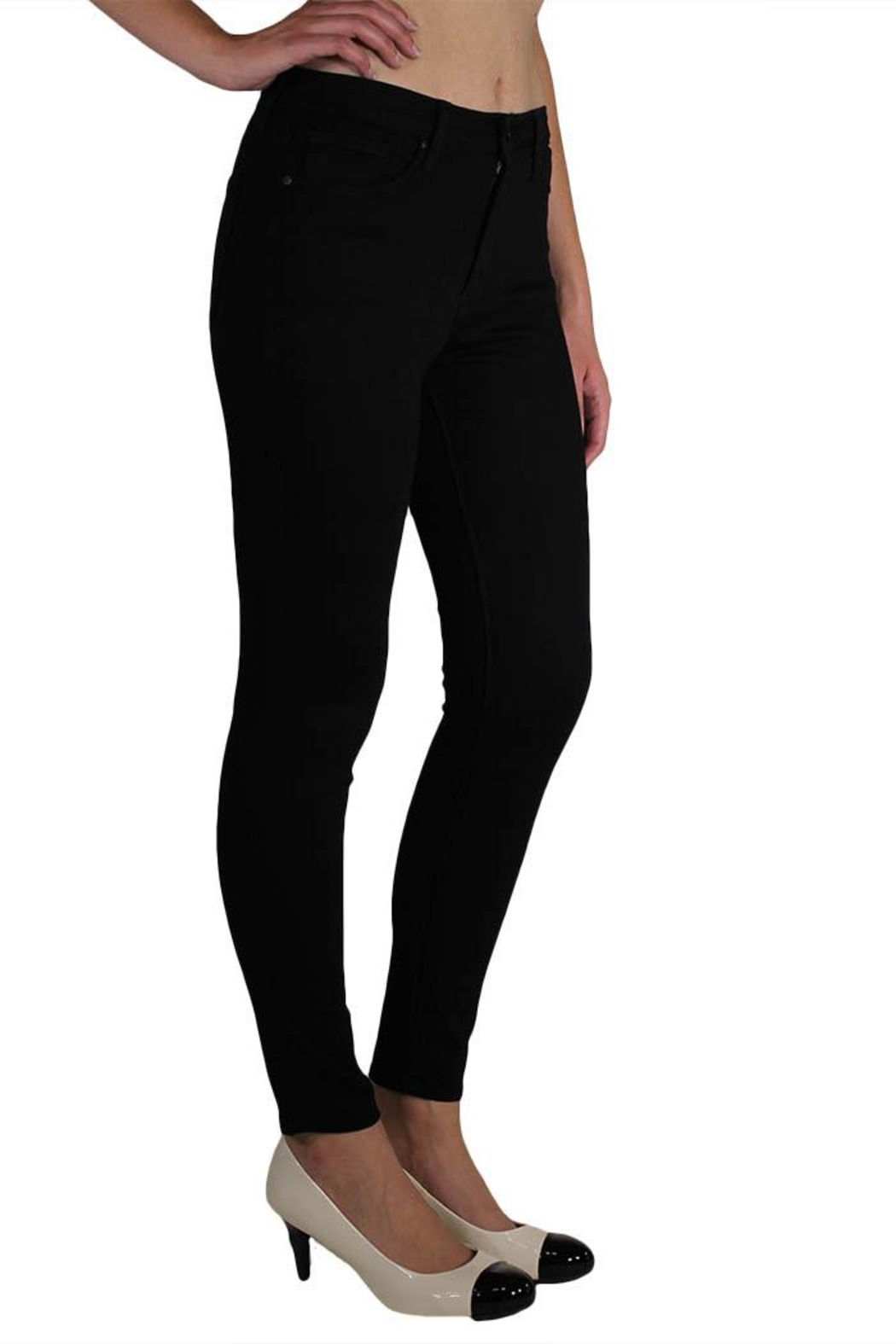 just black High-Rise Skinny Jeans - Front Full Image