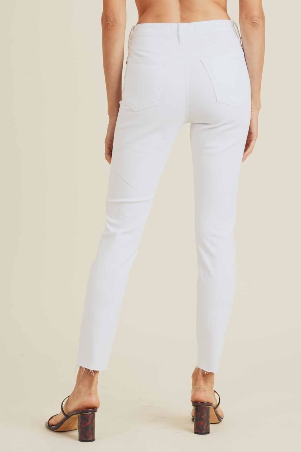 just black High-Rise Skinny Jeans - Back Cropped Image