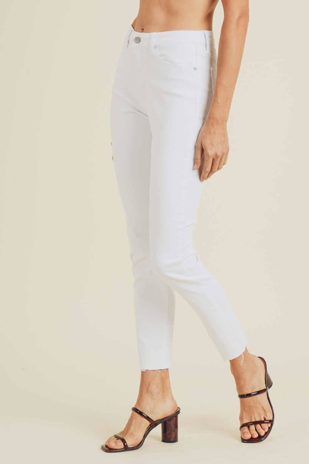 just black High-Rise Skinny Jeans - Side Cropped Image