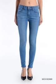 just black High-Waisted Denim - Front full body