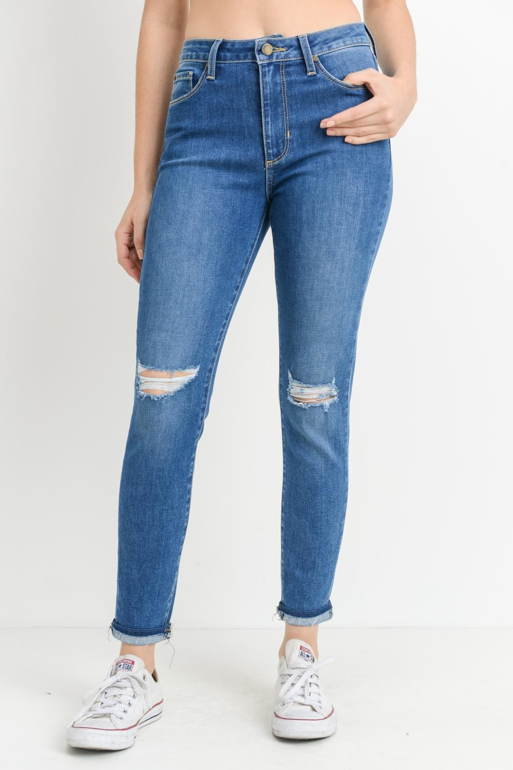 just black High Waisted Jeans - Main Image