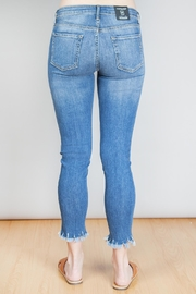 just black High Rise Cropped Hem Jeans - Side cropped