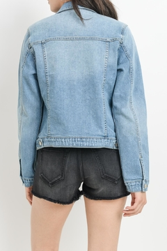 just black Light Denim Jacket - Alternate List Image