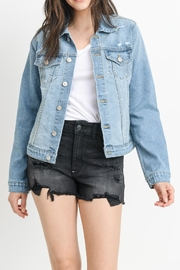 just black Light Denim Jacket - Product Mini Image
