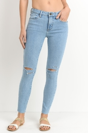 just black Light Denim Jeans - Product Mini Image