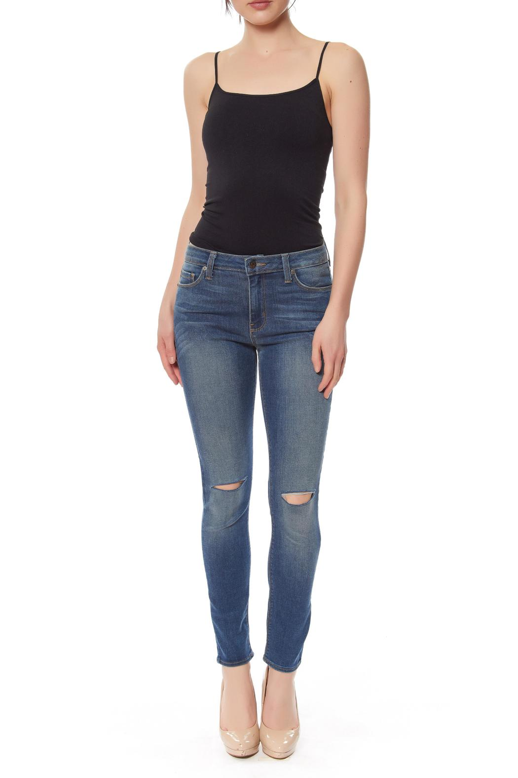 just black Overdyed Knee-Slit Jeans from Manhattan by Montmartre ...