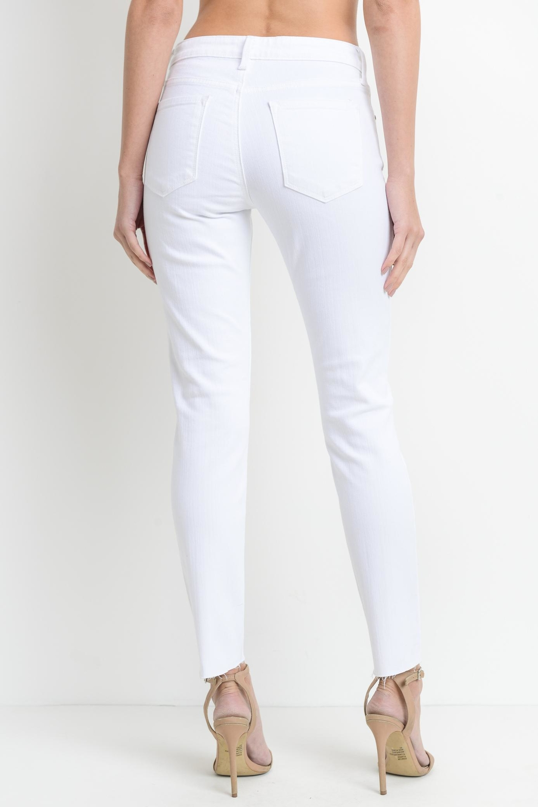 just black White Slit Skinny - Side Cropped Image