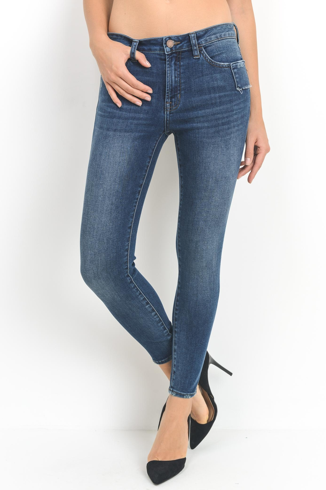 just black Shadow Skinny Jean - Front Cropped Image