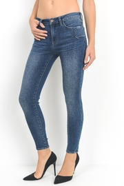 just black Shadow Skinny Jean - Front full body